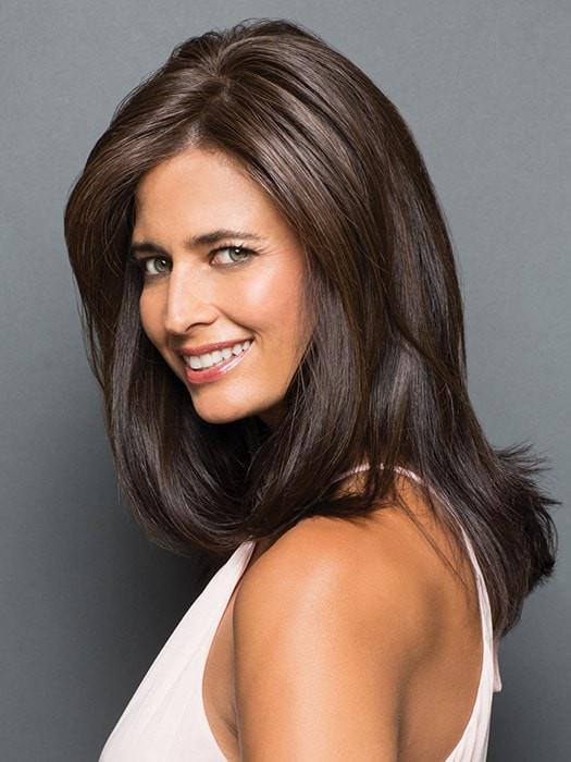 Tru2Life® heat-friendly synthetic hair allows you to seamlessly blend the piece with your own hair