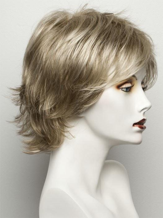 R1621S+ GLAZED SAND | Dark Natural Blonde with Cool Ash Blonde Highlights on Top