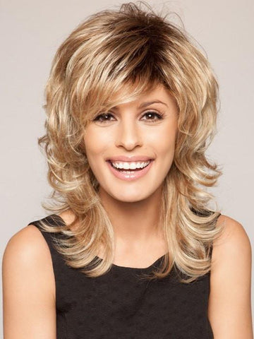 TRESS by Raquel Welch in SS14/88 SHADED GOLDEN WHEAT | Dark Blonde Evenly Blended with Pale Blonde Highlights and Dark Roots