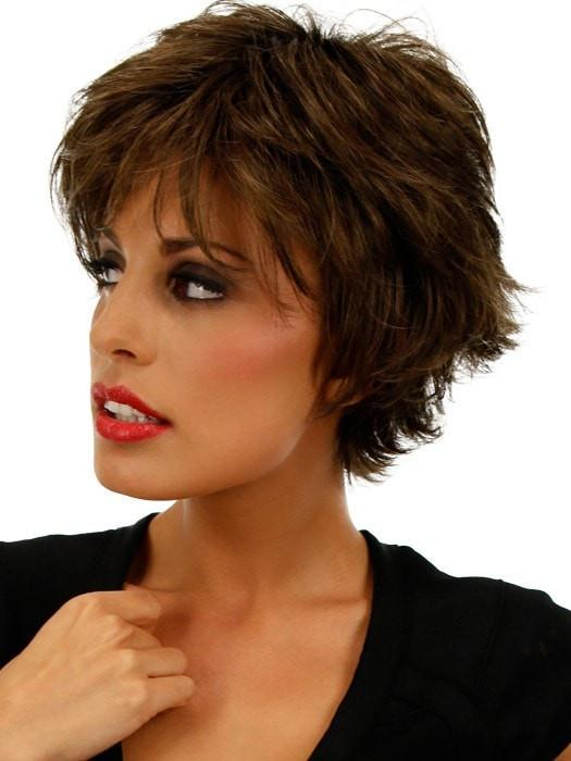 VOLTAGE LARGE by Raquel Welch in SS10 SHADED CHESTNUT | Rich Medium Brown Evenly Blended with Light Brown Highlights and Dark Roots