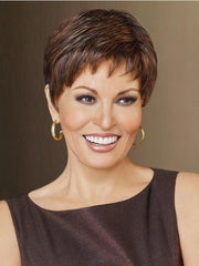 WINNER PETITE by Raquel Welch in R9S+ GLAZED MAHOGANY | Warm Medium Brown with Ginger Highlights on Top