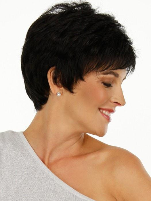 Raquel Welch WINNER Wig in R2 EBONY | Off Black or Black/Brown