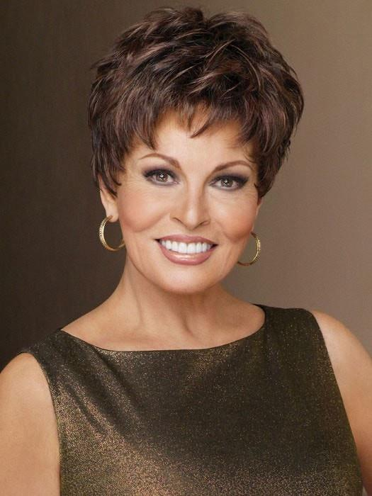 WINNER LARGE by Raquel Welch in R9S+ GLAZED MAHOGANY | Warm Medium Brown with Ginger Highlights on Top