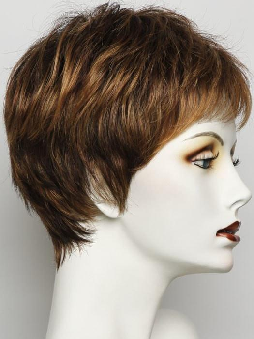 R3329S+ GLAZED AUBURN | Rich Dark Reddish Brown With Pale Peach Blonde Highlights