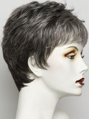 R511G GRADIENT CHARCOAL | Light Brown With 90% Gray in Front Gradually Blended Into 30% Gray in Nape Area