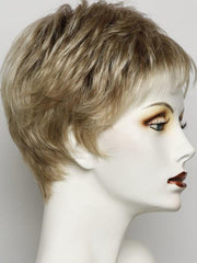 SS14/88 GOLDEN WHEAT  | Medium Blonde Streaked With Pale Gold Highlights and Medium Brown Roots