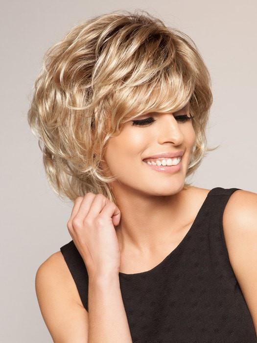 It's a wavy style with a wispy bang and built-in volume that gives you nice lift at the root