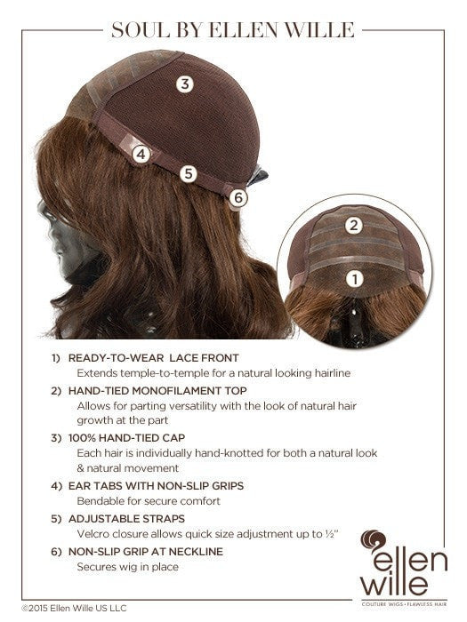 100% Hand-Tied, Monofilament and Lace Front, see Cap Construction Chart for more details