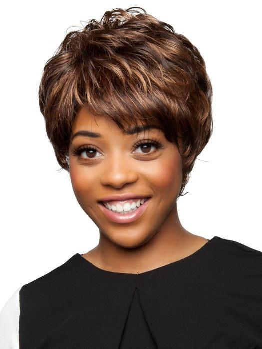 AMY by Vivica Fox in P4/27/30 Piano | Medium Dark Brown, Honey Blonde, and Copper Blonde
