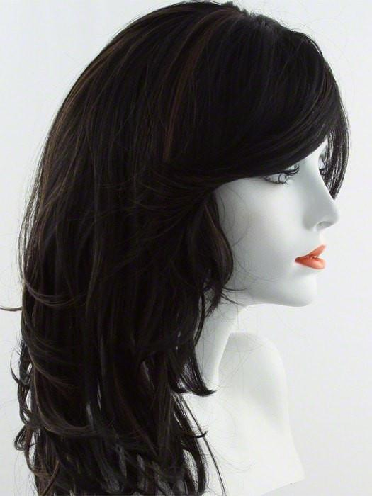 FS1B/30 | FROSTED (FS) - 80% base color frosted with 20% highlight color - Off Black + Medium Auburn