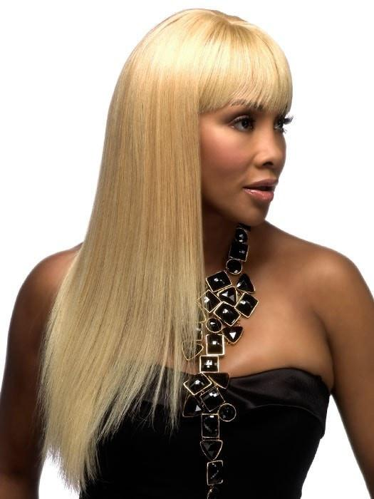 Platinum Blonde Vivica Fox Wig | Human Hair Wig in color 613