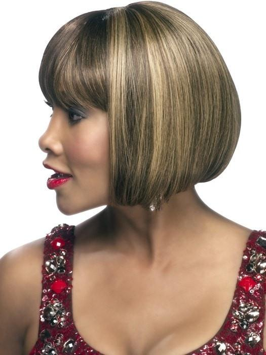 H-280 by Vivica Fox | Human Hair Wig with a Side Skin Part