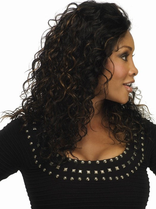 QUEENIE by Vivica Fox | Remi Human Hair Wig with Lace Front (shown in FS1B/30)