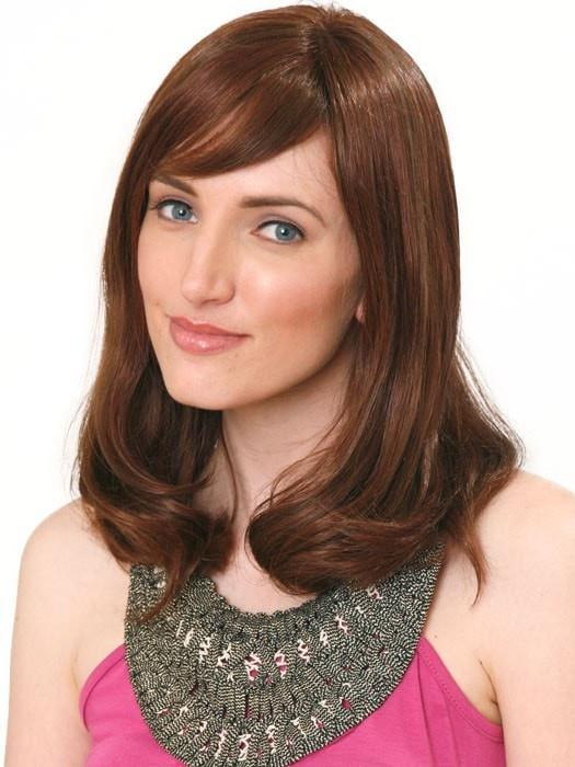 ADELLE MONO by Wig Pro in OPUS ONE | Blends of Medium Chestnut Brown (6), Medium Auburn (31) and Dark Auburn (33)
