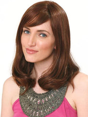 ADELLE LARGE (HT) Hand-tied by Wig Pro: OPUS ONE | Blends of Medium Chestnut Brown (6), Medium Auburn (31) and Dark Auburn (33)