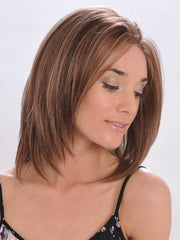 Layered ends create a flattering fringe | Color: Rocky Road