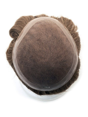 Men's System 8 x 9 | Human Hair Topper (Hand-Tied)