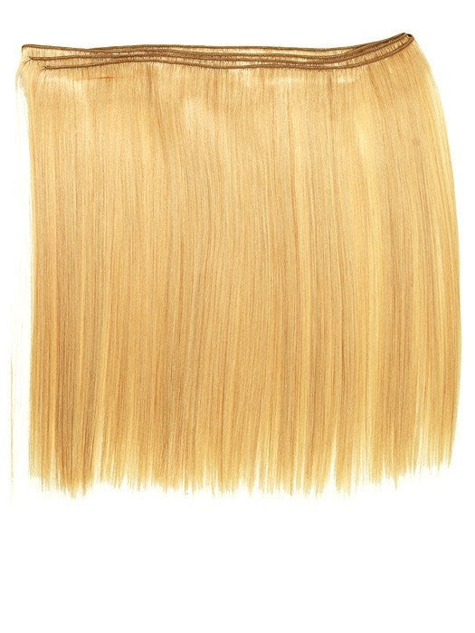 "Silky Straight Extension Weft. Machine stitched weft of gorgeous, hi-quality silky straight human hair with an Overall length of 18""."