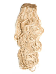 "French Curl Extension Weft. Beautiful, lustrous French Wave human hair with an Overall length of 18""."