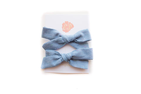Chambray with Neon Threading