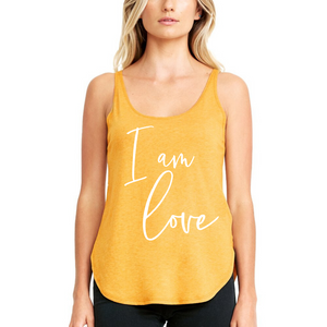 I Am Love, Cursive - Flowy Tank
