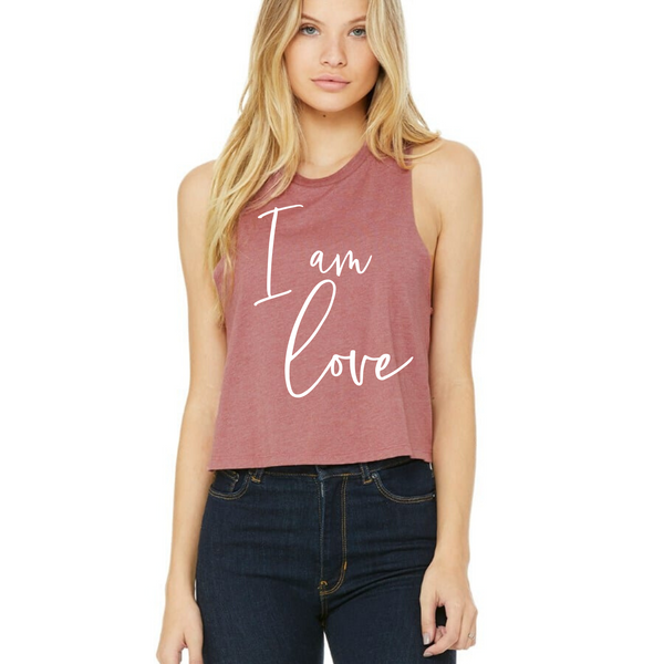 I Am Love, Cursive - Crop Tank