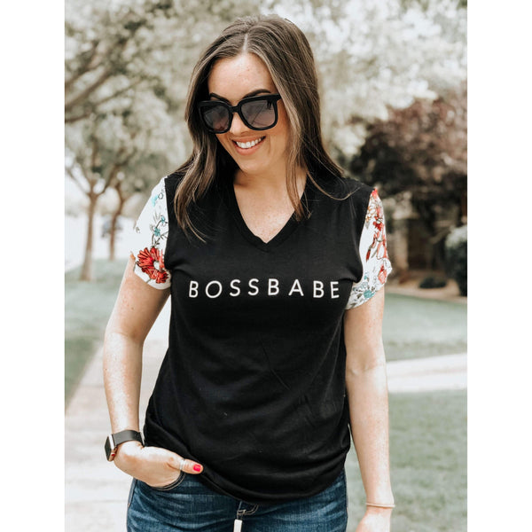 Bossbabe Sleeved Tee - Womens
