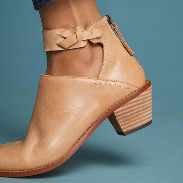 Carlee Ankle Strap Boots