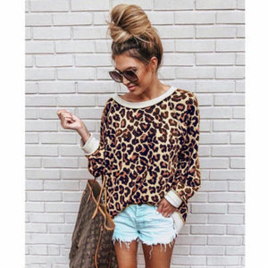 Channa Leopard Pullover Sweater