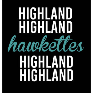 Highland Hawkettes Polka Dot Sleeved - Kids Tee