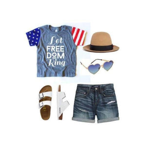 Let Freedom Ring - Girls Tee