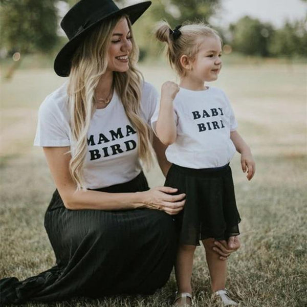 Mama Bird and Baby Bird - Mommy and Me Tees