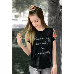 There is Beauty in Simplicity - Girls Tee