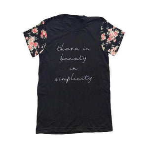 There is Beauty in Simplicity - Womens Tee