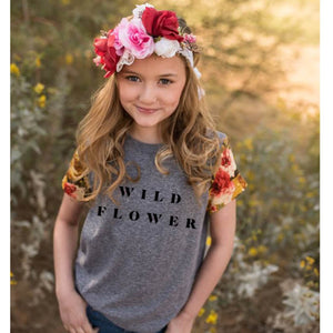 Wild Flower - Girls Tee