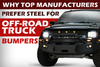 Why Top Manufacturers Prefer Steel for Off-Road Truck Bumpers