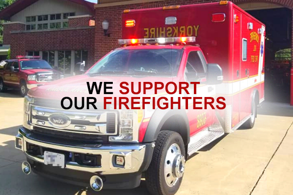 We support our firefighters