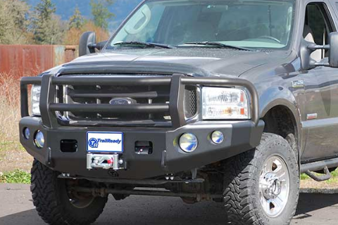 TrailReady 12315G Ford F250/F350 Superduty 2011-2016 Extreme Duty Front Bumper Winch Ready with Full Guard