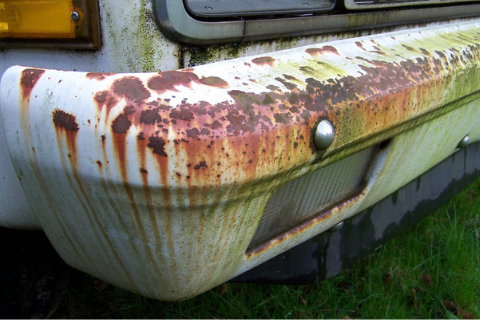 How to treat rust and chipped paint bumper