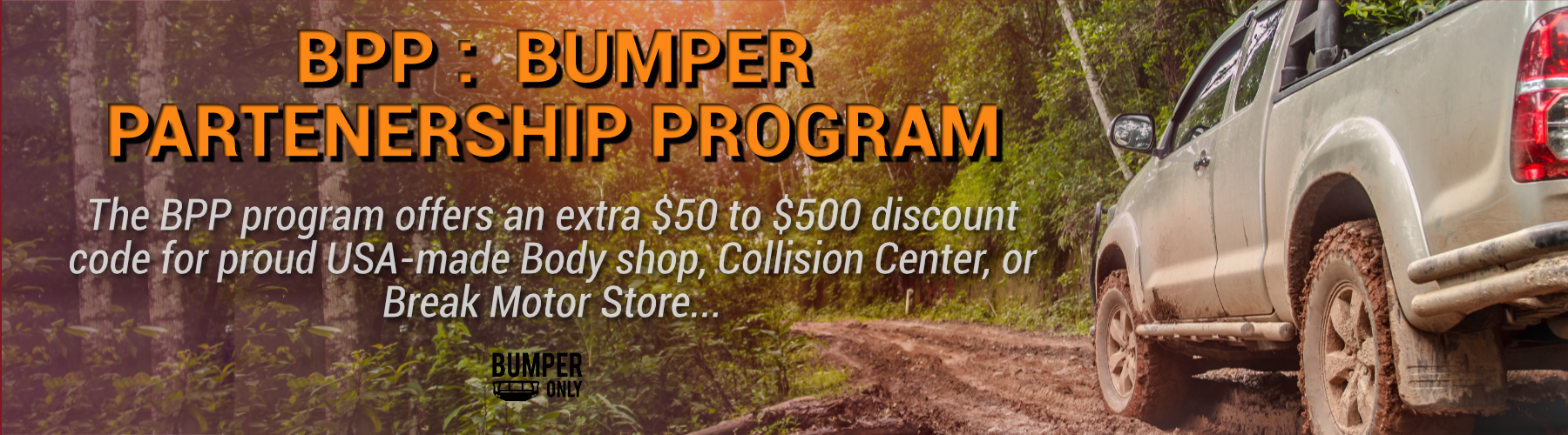 BumperOnly BPP Aftermarket Bumpers Discount for BodyShop