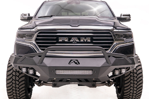 Fab Fours DR16-V4052-1 Dodge Ram 2500/3500 2016-2018 Vengeance Front Bumper with Pre-Runner Guard