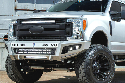 Road Armor Identity 6114DF-A1-P3-MD-BH Ford F450/F550 Superduty 2011-2016 Front Bumper (Ford Superduty F450 Or F250/F350 if equipped with Aftermarket Pocket Flares)