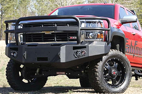 Fab Fours CS14-H3050-1 Chevy Silverado 1500 2014-2015 Premium Front Bumper Winch Ready with Full Guard