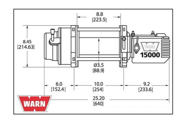 WARN 47801 M15000 15000 Lbs Heavy Duty Truck Winch