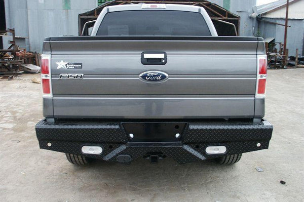 Frontier 100-10-9010 2009 - 2014 FORD F150 WITH SENSORS Diamond Back Bumpers - BumperOnly