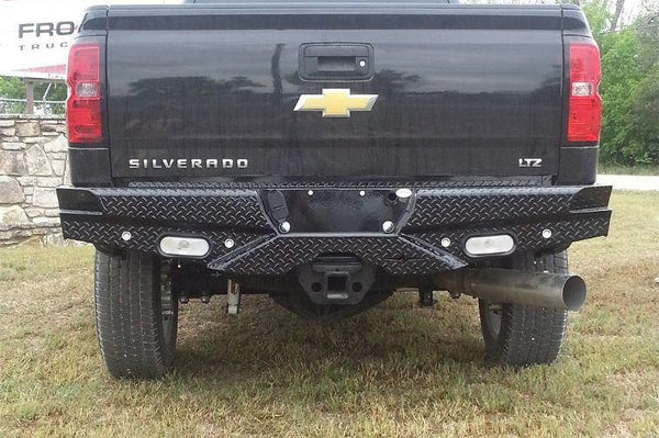Frontier 100-20-7009 Diamond Chevy Silverado 1500 2007-2013 Rear Bumper With Lights and Sensors - BumperOnly