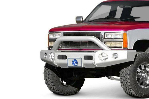 TrailReady 10200P Chevy Tahoe and Suburban 1992-1999 Extreme Duty Front Bumper Winch Ready with Pre-Runner Guard - BumperOnly
