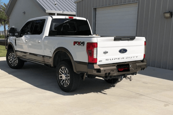 Fab Fours FS17-W4151-1 Ford F250/F350 Superduty 2017-2019 Premium Rear Bumper with Sensor