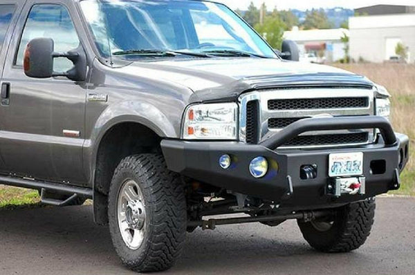 TrailReady 12200P Ford F150 1997-1998 Extreme Duty Front Bumper Winch Ready with Pre-Runner Guard - BumperOnly