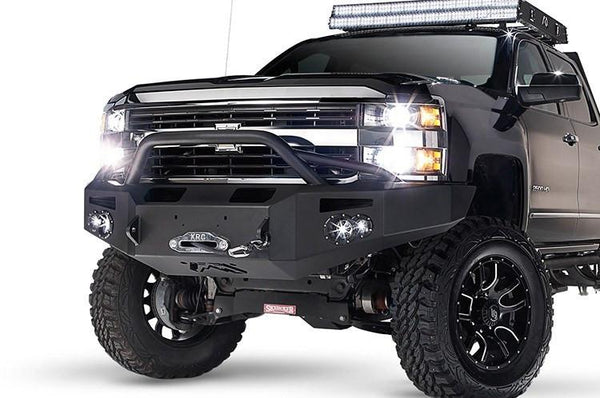 FabFours Premium Truck Front Winch Pre-Runner Bumper 2015+ Chevy Silverado HD 2500-3500 CH14-A3052-1 - BumperOnly